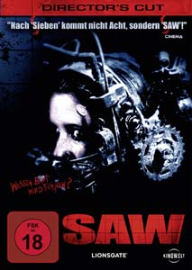 "Jigsaws Erster: ""SAW"" (Cover: Kinowelt)"