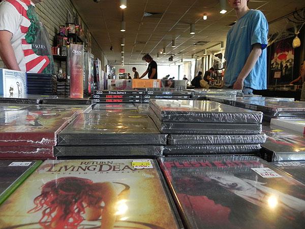 DVDs in Bottrop - das ganz harte Zeug (Foto: Horrormagazin.de)