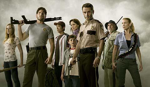 Coole Truppe: Sheriff Rick Grimes (Andrew Lincoln, 3.v.r.) und seine Getreuen (Foto: WVG Medien)