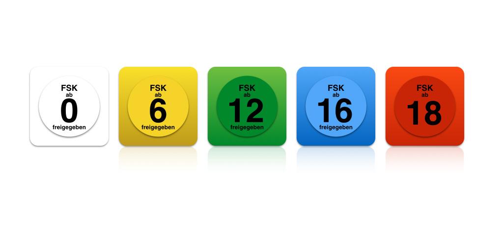 Die fünf FSK-Siegel