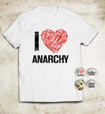 Und so sehen T-Shirt und Anstecker aus
